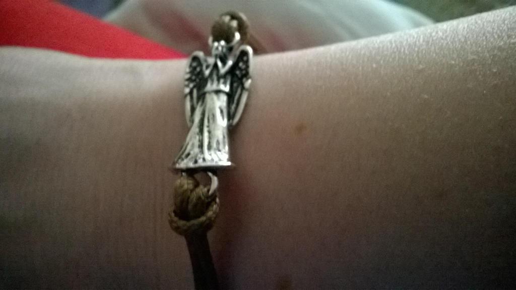 Weeping Angel Bracelet by GallifreyGirl1