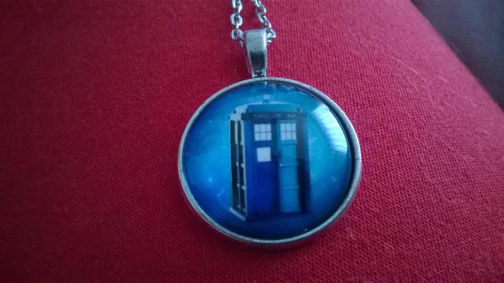 TARDIS necklace by GallifreyGirl1