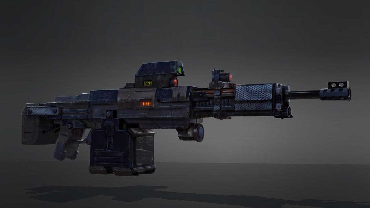 sci fi light machine gun