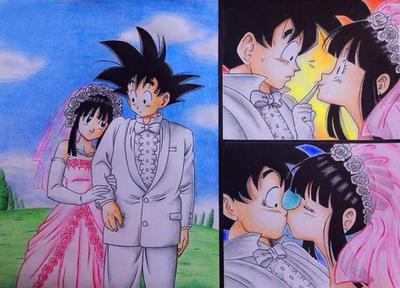 Goku Chichi - Marriage by alessiossj on DeviantArt