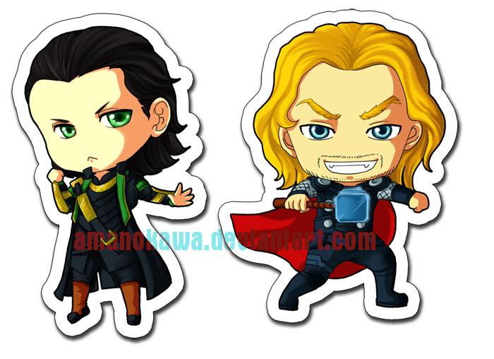 Loki - Thor Chibi by amanokawa on DeviantArt