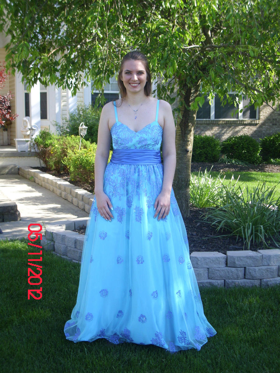 Moonlight blue prom dress - Dressed for less