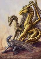 Three Dragons by Wardem
