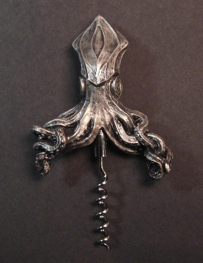 Kraken Corkscrew, front by DellamorteCo