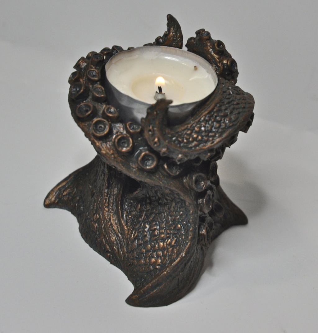 Kraken Tentacle Tea Light Holder by DellamorteCo