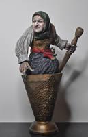 Baba Yaga, painted, 2 by DellamorteCo