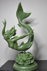 Mermaid, jade finish, 2 by DellamorteCo