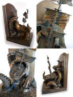 Kraken Bookends, 3 by DellamorteCo