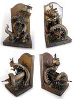 Kraken Bookends, 2 by DellamorteCo