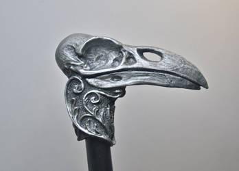 Raven Skull Cane by DellamorteCo