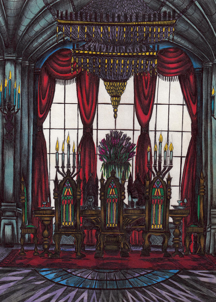 Castle dining room by niminsin13 on deviantart for Q significa dining room