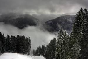 foggy mountains by lucifersdream