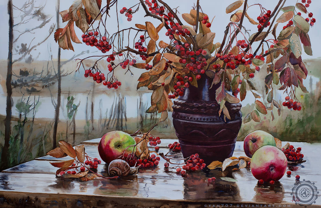Autumn Ashberries by Cyan707