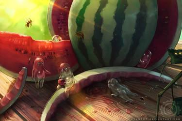 Dewdroplets Watermelon by Cyan707