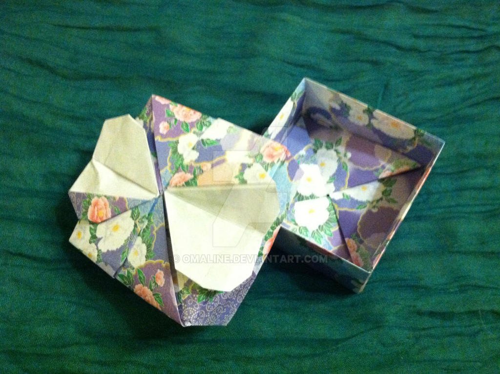 Double Heart Fancy Origami Box by Omaline on DeviantArt - photo#10
