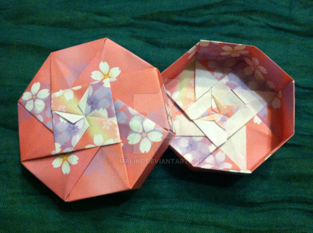 very small small flower origami box by omaline on deviantart