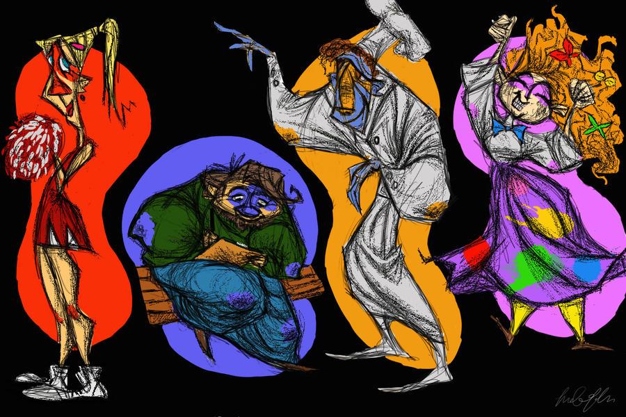 Character Design Set : Character design set by d mk tty on deviantart