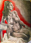 Life Drawing by D00Mk1tty14
