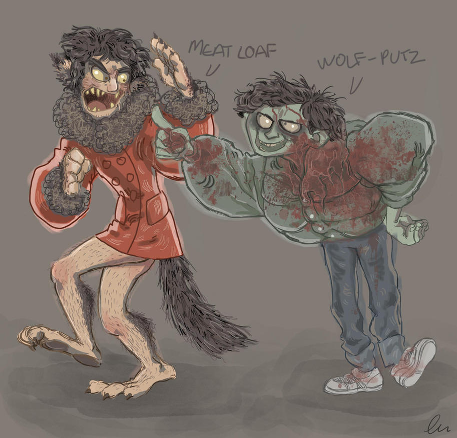 An American Werewolf in London - David and Jack by D00Mk1tty14