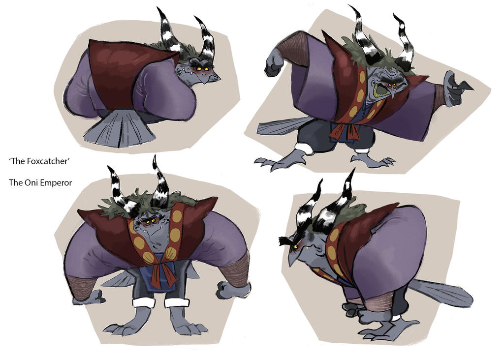 The Foxcatcher - The Oni Emperor - Model Sheet by D00Mk1tty14