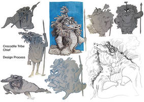 Crocodile Chief - Character Design Process by D00Mk1tty14