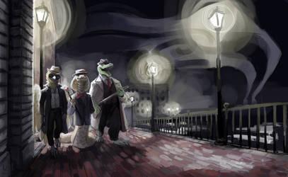 Commission Noir Dinosaurs Descendants by Drag0n-Princess