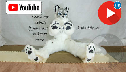 Snow leo fursuit VIDEO!