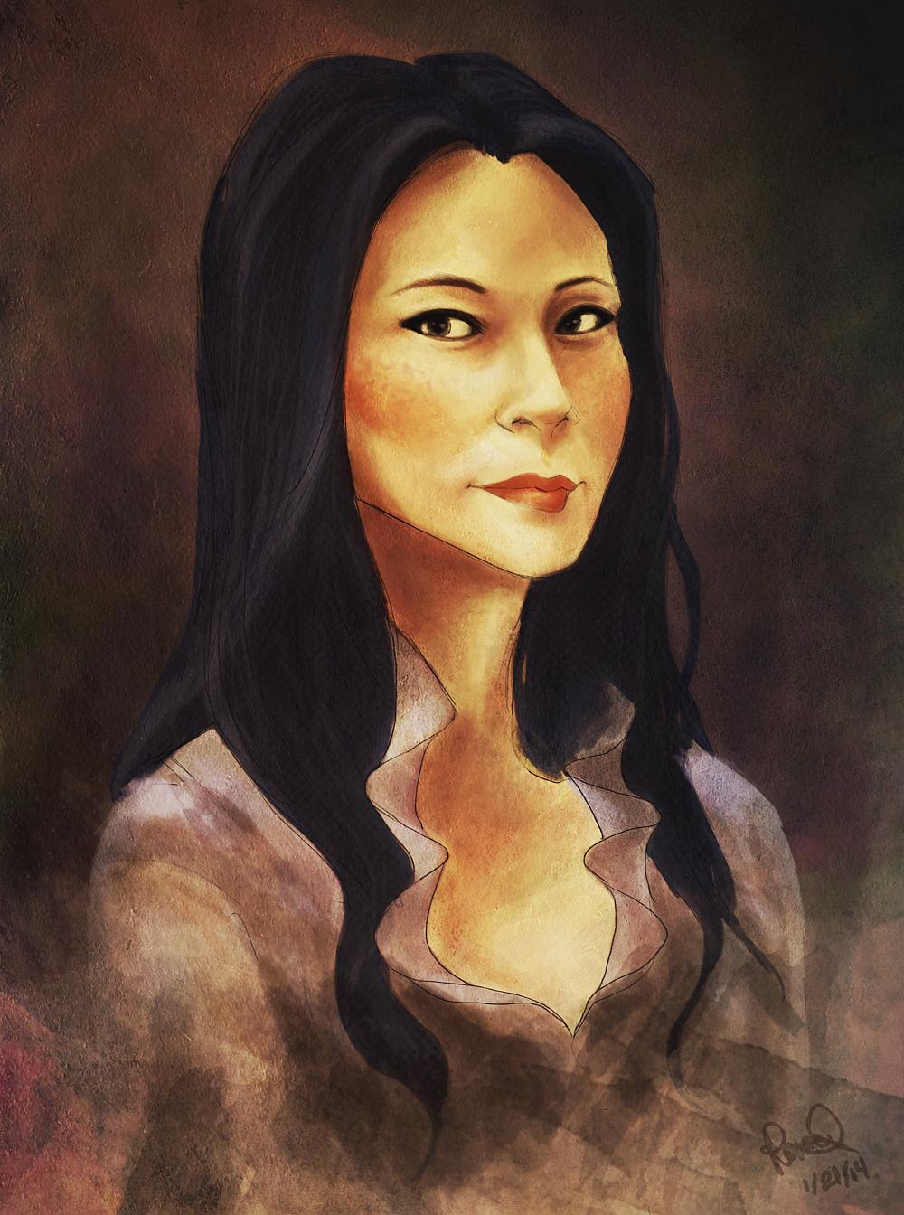 elementary: portrait of joan watson by happpenstance