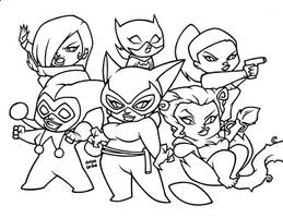 WOMEN of THE BATMAN Inks by AnyaUribe