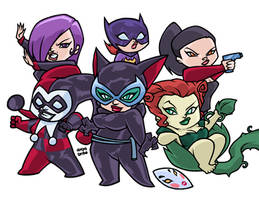 THE WOMEN OF THE BATMAN by AnyaUribe