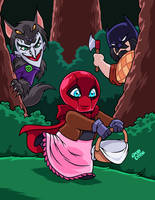 Little Riding RED HOOD by AnyaUribe