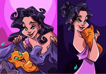 SELINA n KITTIES by AnyaUribe