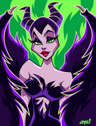 MALEFICENT 2019 by AnyaUribe