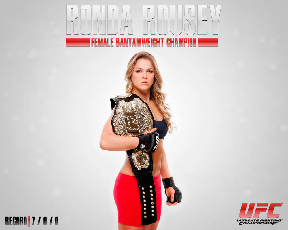 Ronda rousey ufc wallpaper by exaart on deviantart