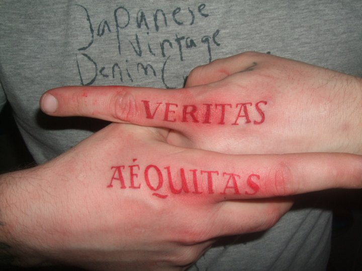 Aequitas veritas by jowal on deviantart for Veritas aequitas tattoos