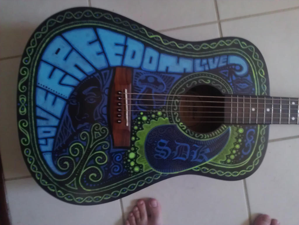 Guitar Painting by Samuel81
