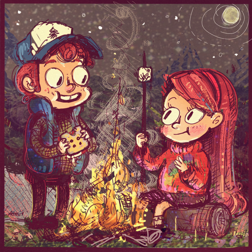 Gravity Falls I by asmithart