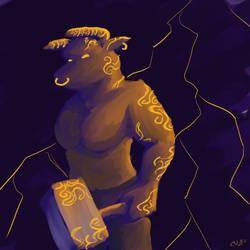 Glowing Minotaur