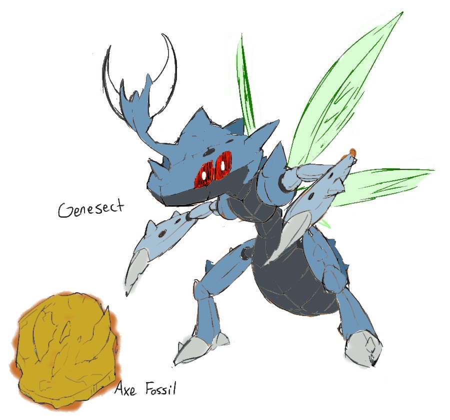 Ancient genesect 2 by 13charmeleon on DeviantArt
