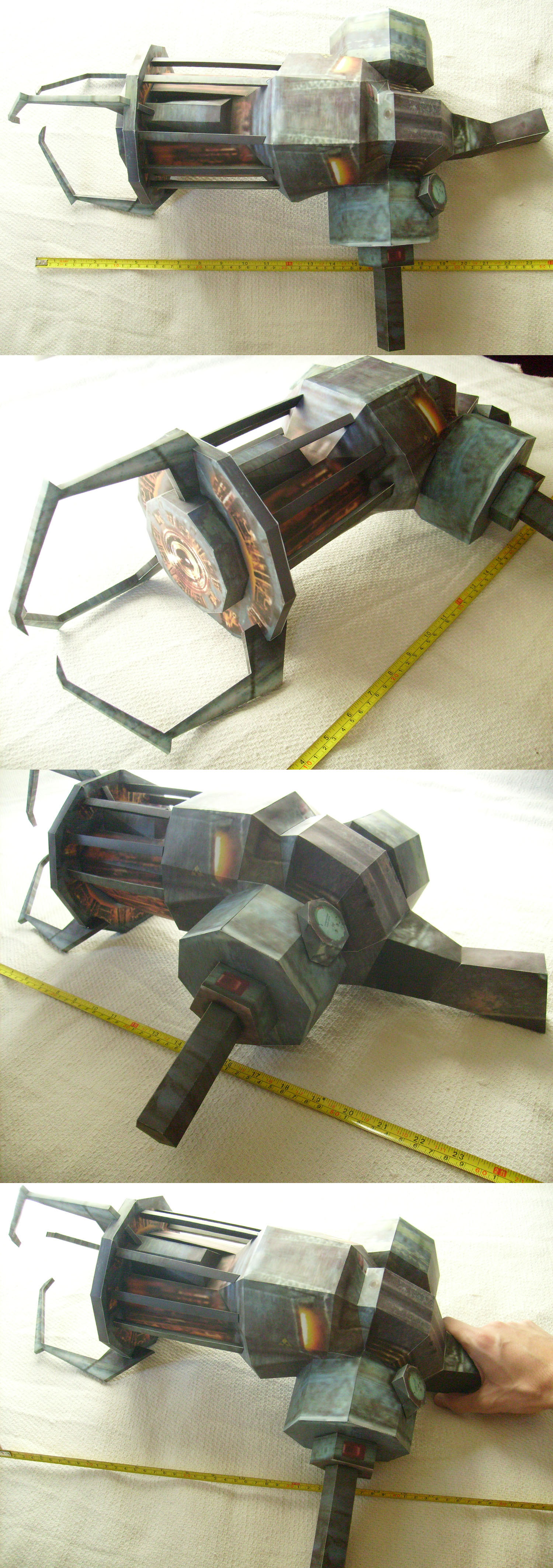 HL Gravity Gun - Life Size Papercraft - Assembled by dvntusr