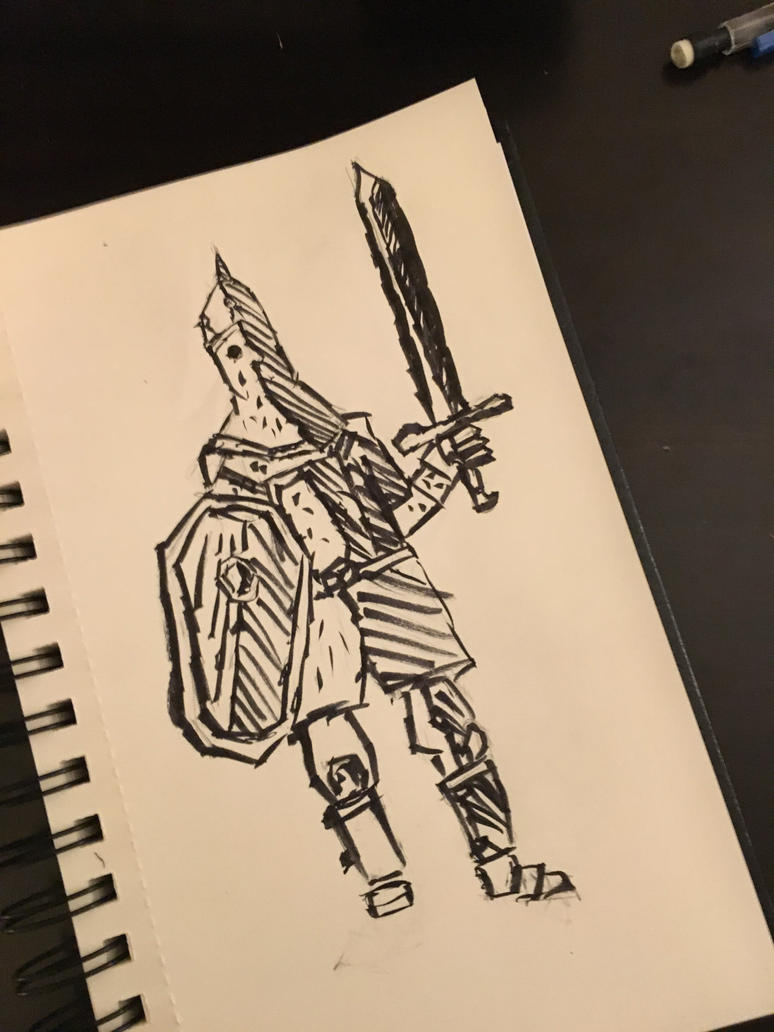 Persian soldier(ink drawing)-NarwhalZ720 by NarwhalZ7200