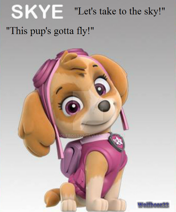Paw Patrol Pup Skye By Wolfboss22 On DeviantArt