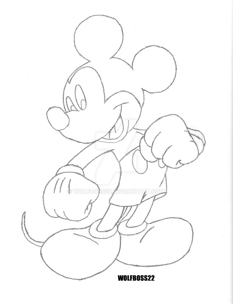 Mickey mouse pencil sketch by wolfboss22 on deviantart