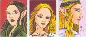 Sketch Cards 4 lotr women