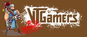 Vtgamers mascot and logo