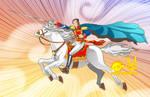 Simon Bolivar and horse