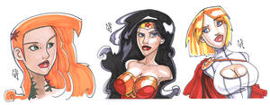 DC Girl's busts