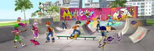 Skating poster 3D by Axigan