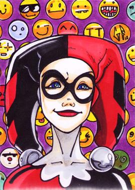 SketchCard: Harley Quinn_3 by Axigan