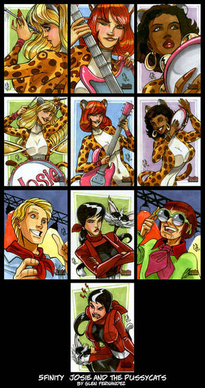 sketchcards: 5finity JOSIE and the pussycats